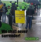 norml uk protest weed meme