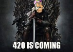 420 is coming stoner holiday meme