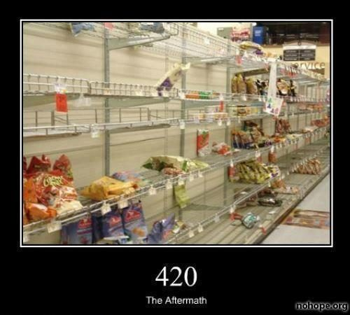 Aftermath at the local supermarket the day after 420