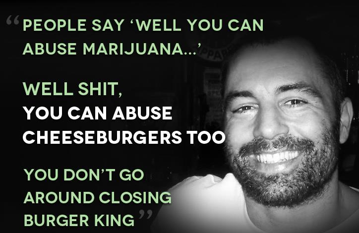 quote joe roagn cheeseburgers abuse
