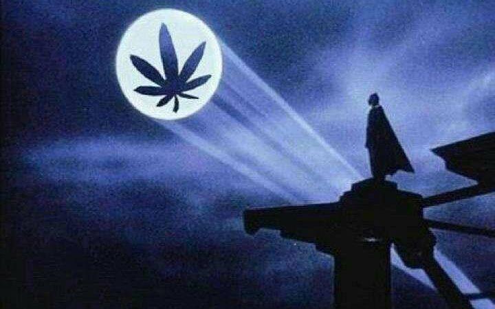 Bat Signal? Batman needs weed first!