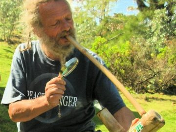 Solar powered Jamaican steam pipe...the solar power is provided by the sun and magnifying glass.