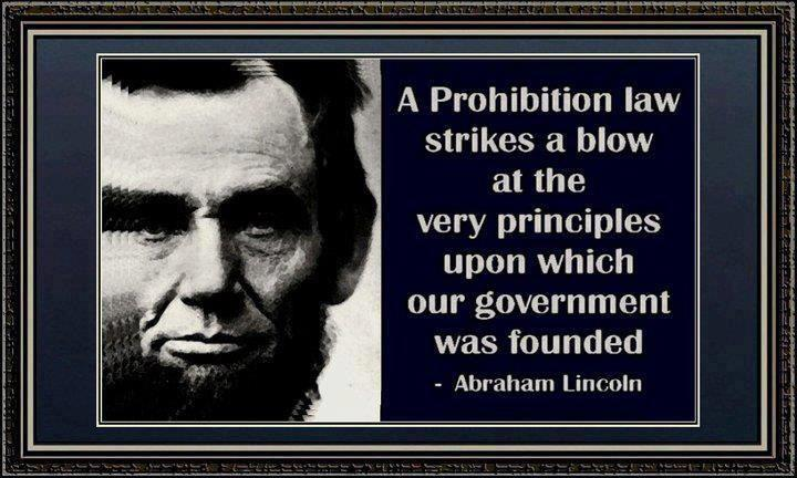 abraham lincoln prohibition quote