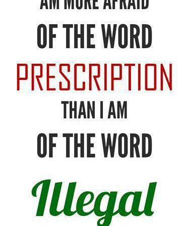 I'm More Afraid Of The Word Prescription