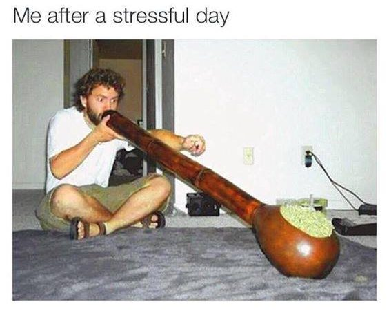After a stressful day at work