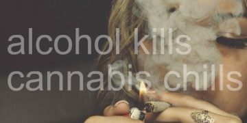 Alcohol kills, cannabis chills meme