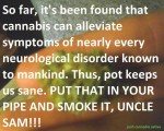 cannabis relieves symptoms neurological conditions
