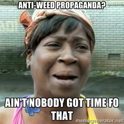 anti-weed propaganda aint no body got time fo that