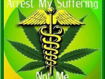 arrest my sufefring emdical marijuana