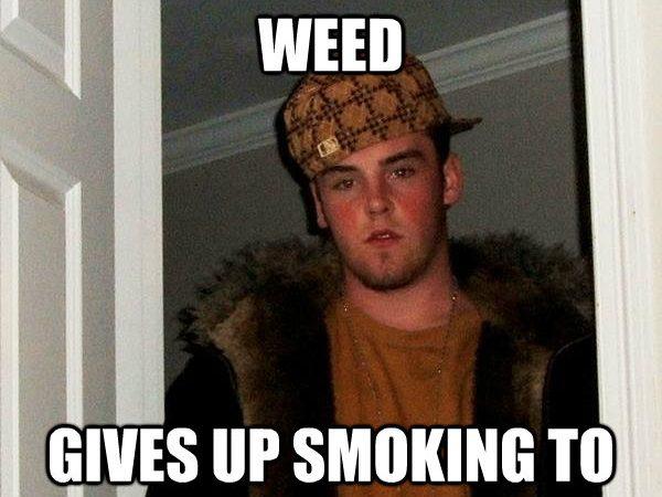 Blames bad grades on weed…