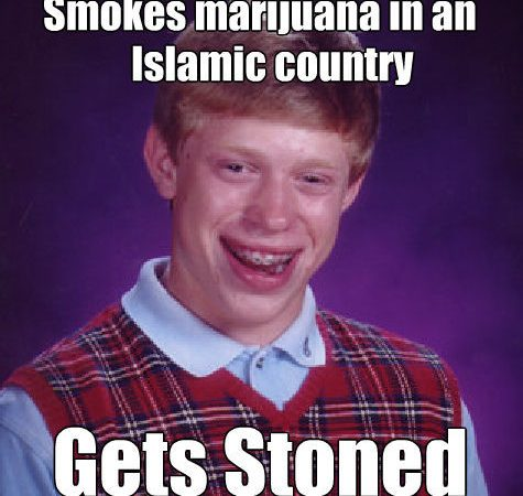Smokes weed in an Islamic country…