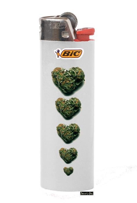 bic lighter heart buds