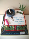 Weed Smokers Birthday Cake