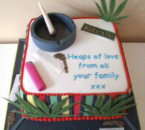 Best Ever Weed Smokers Birthday Cake