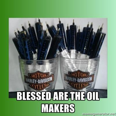 Blessed are the oil makers