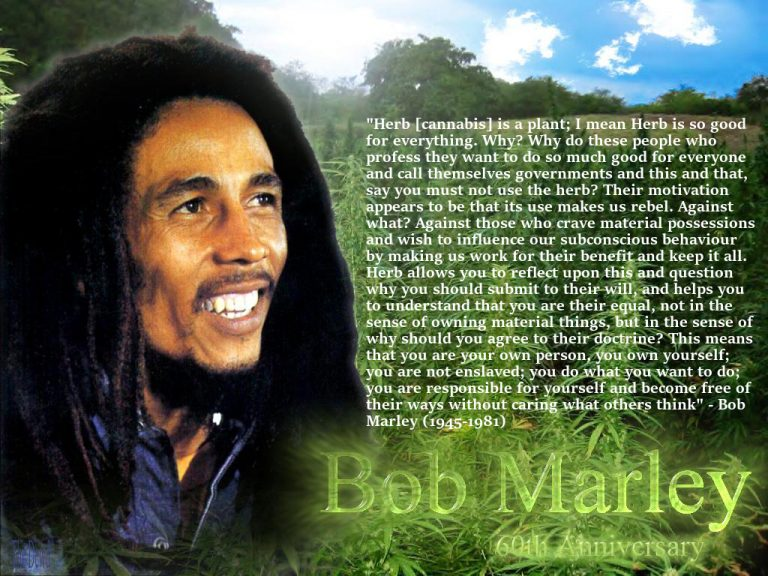 Bob Marley Herb Quote