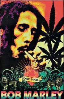 Bob Marley smoking a joint