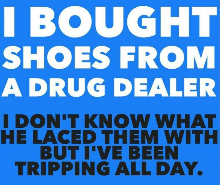 shoes from drug dealer