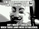 breaking law Terribly Sorry consulted