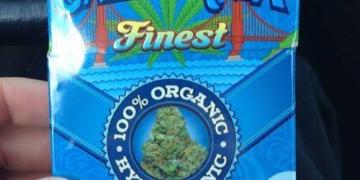Pre-packaged blue dream cannabis cigarettes
