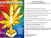 First Church of Cannabis commandments