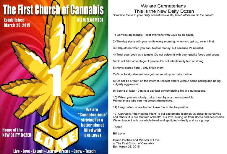 First Church of Cannabis commandments