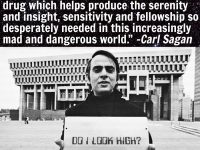 Carl Sagan cannabis illegality quote