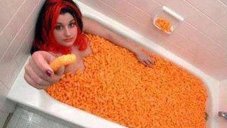 bath full cheetos munchies