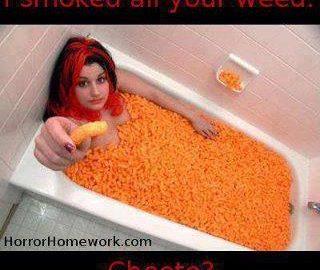 bath full cheetos munchies