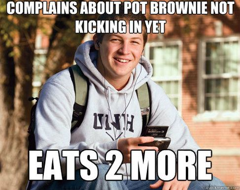 college pot brownies