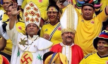 World Cup Columbian Nazi Weed Pope