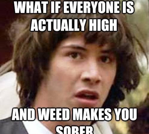 Conspiracy Keanu Ponders Being High On Marijuana