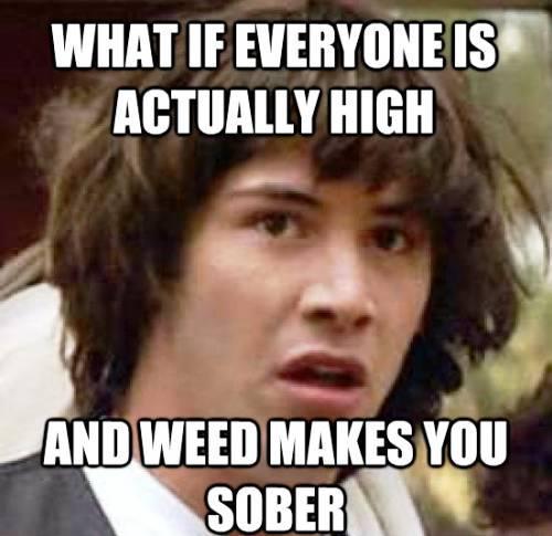 Conspiracy Keanu marijuana meme