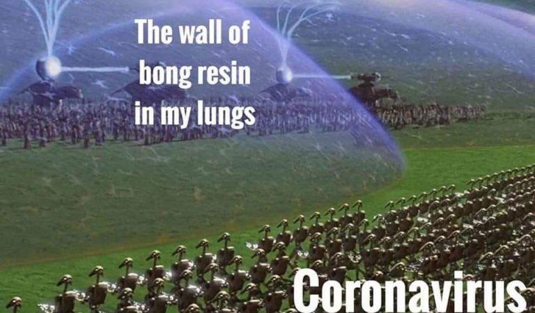 Corona Virus Vs Bong Resin Shield