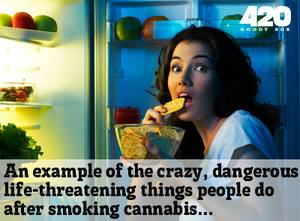 An example of the dangerous life-threatening activities of weed smokers