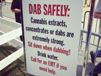 dab safely warning sign dabbing