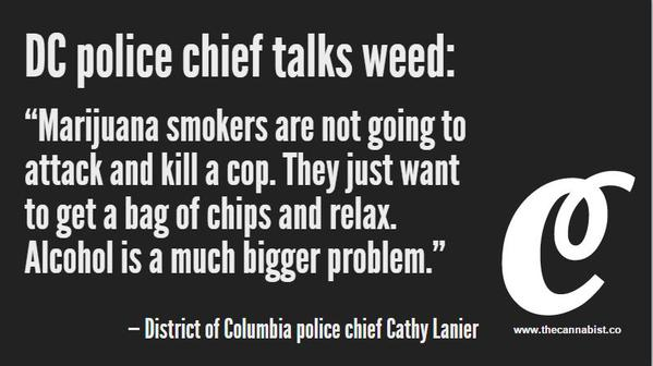 Alcohol is a much bigger problem, says DC Police Chief