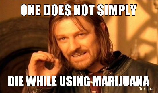 One Does Not Simply Die While Using Marijuana