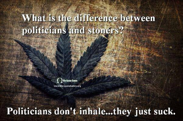 What's the difference between stoners and politicians?