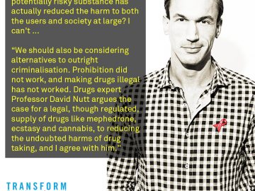 Dr Christian Jessen talks drugs harm reduction