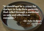 doctor julie holland marijuana quote