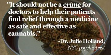 doctor julie holland marijuana quote