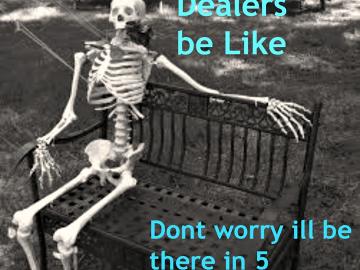 waiting on drug dealer