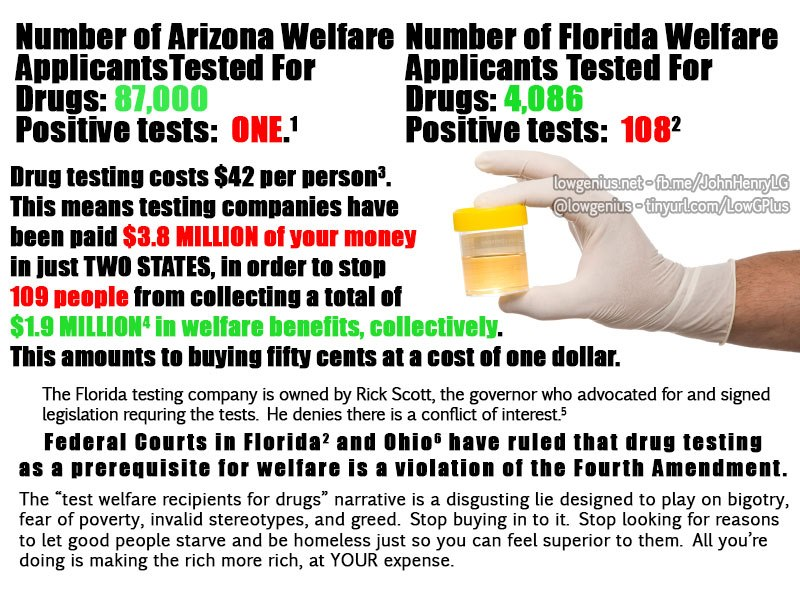 drug testing welfare recipents One province in canada, ontario, is considering the use of drug tests for welfare recipients those with positive tests could be required to receive treatment and abstain from drug use or risk losing their benefits.