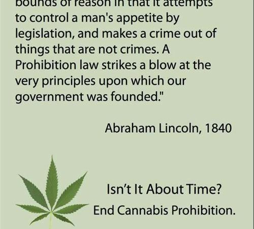 Abraham Lincoln Quote on Prohibition in 1840 …still relevant!