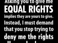 demand your rights government equality