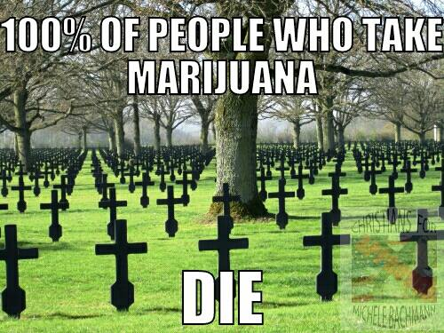 100% of marijuana smokers die