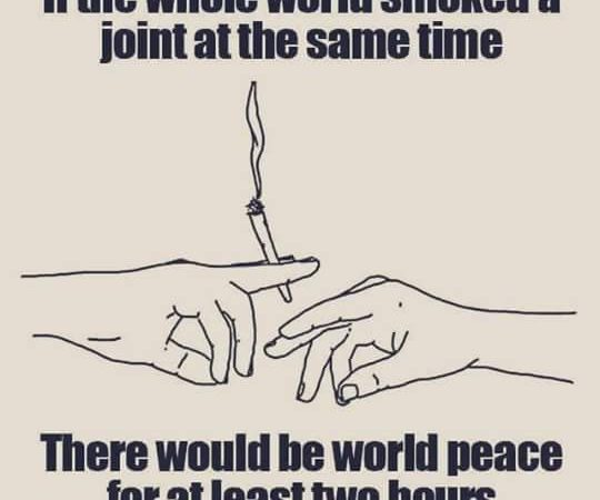 If the whole world smoked a joint…