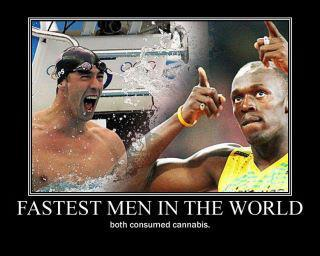 fastest men in the world cannabis
