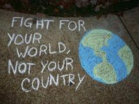 fight for your world not country chalk